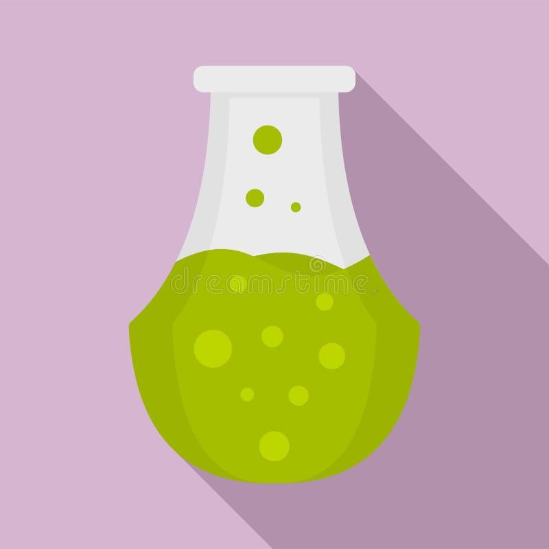 Icona della boccetta della pozione, stile piano illustrazione vettoriale