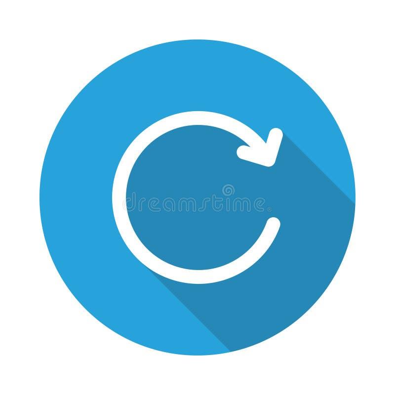 Icona della bolla della ricarica illustrazione di stock