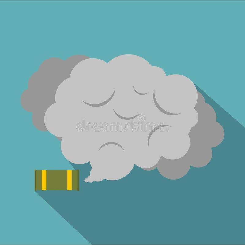 Icona della bombola di gas dello strappo, stile piano royalty illustrazione gratis