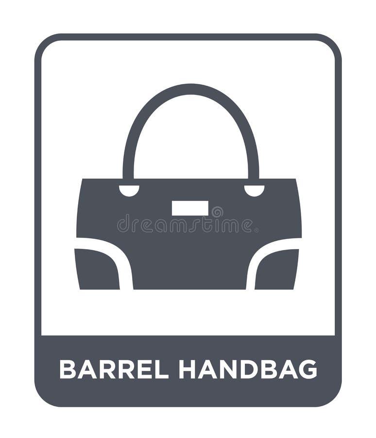 icona della borsa del barilotto nello stile d'avanguardia di progettazione icona della borsa del barilotto isolata su fondo bianc royalty illustrazione gratis