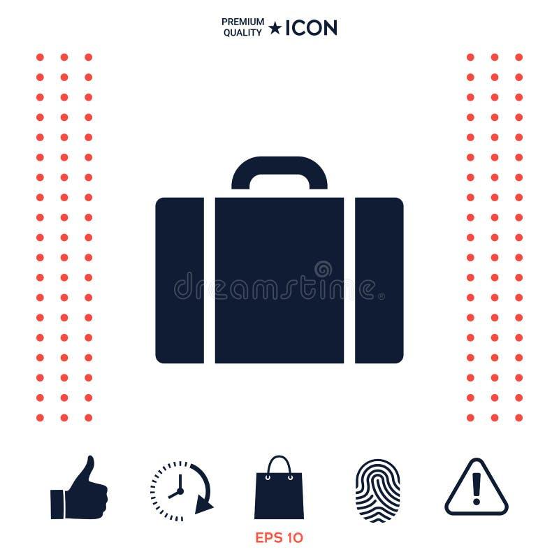 Download Icona Della Borsa Di Viaggio Illustrazione Vettoriale - Illustrazione di segno, background: 117977480