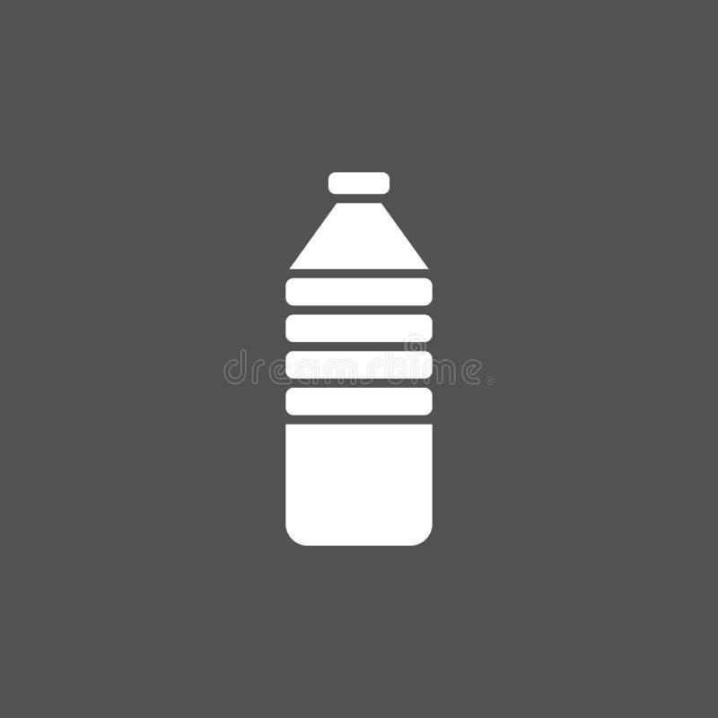 Icona della bottiglia di acqua illustrazione di stock