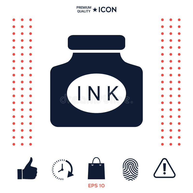 Download Icona Della Bottiglia Di Inchiostro Illustrazione Vettoriale - Illustrazione di scrittura, antique: 117975674