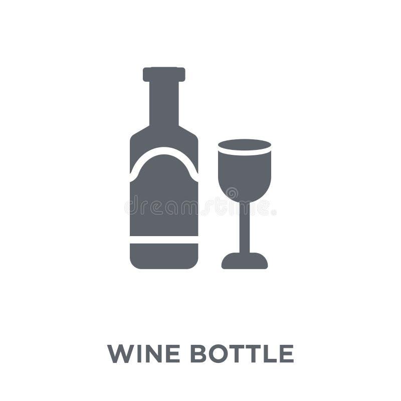 Icona della bottiglia di vino dalla raccolta royalty illustrazione gratis