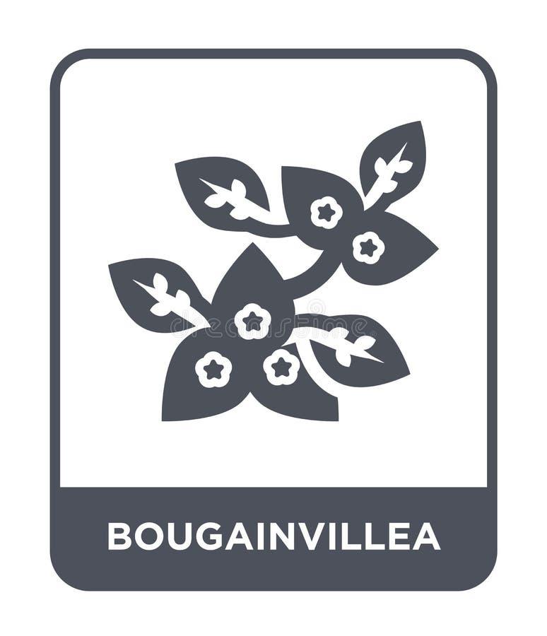 icona della buganvillea nello stile d'avanguardia di progettazione icona della buganvillea isolata su fondo bianco icona di vetto illustrazione di stock