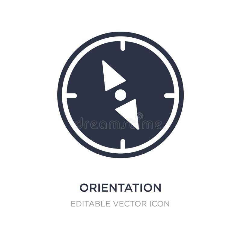 icona della bussola di orientamento su fondo bianco Illustrazione semplice dell'elemento dal concetto degli utensili e degli stru illustrazione vettoriale