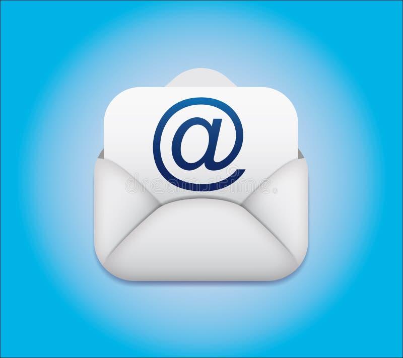 Icona della busta del email di simbolo illustrazione vettoriale