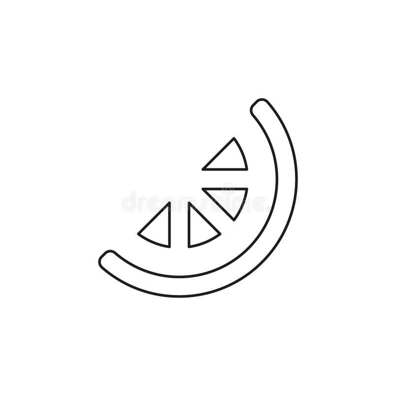 Icona della calce, fetta del limone, frutta sana fresca illustrazione di stock