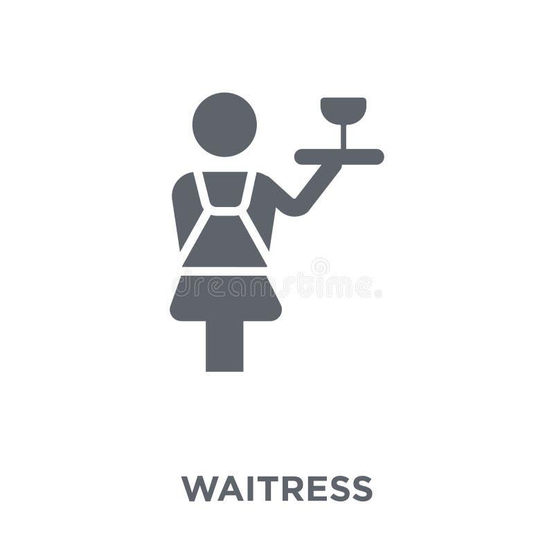 Icona della cameriera di bar dalla raccolta del ristorante royalty illustrazione gratis