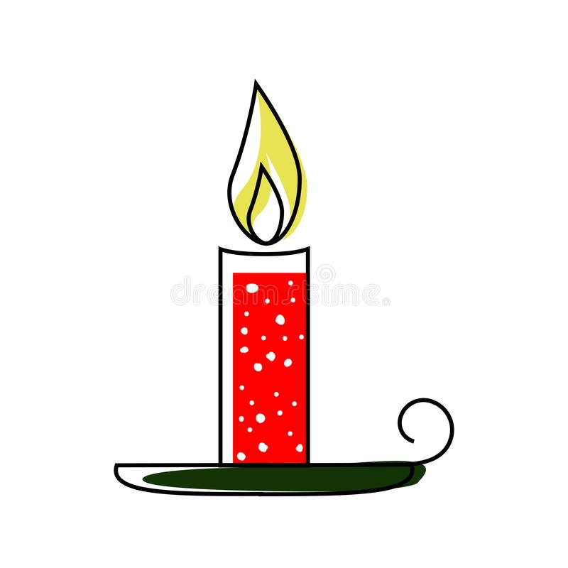 Icona della candela di Natale royalty illustrazione gratis