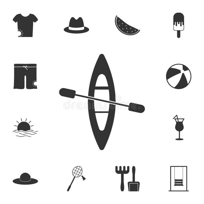 Icona della canoa Insieme dettagliato delle illustrazioni di estate Icona premio di progettazione grafica di qualità Una delle ic illustrazione vettoriale