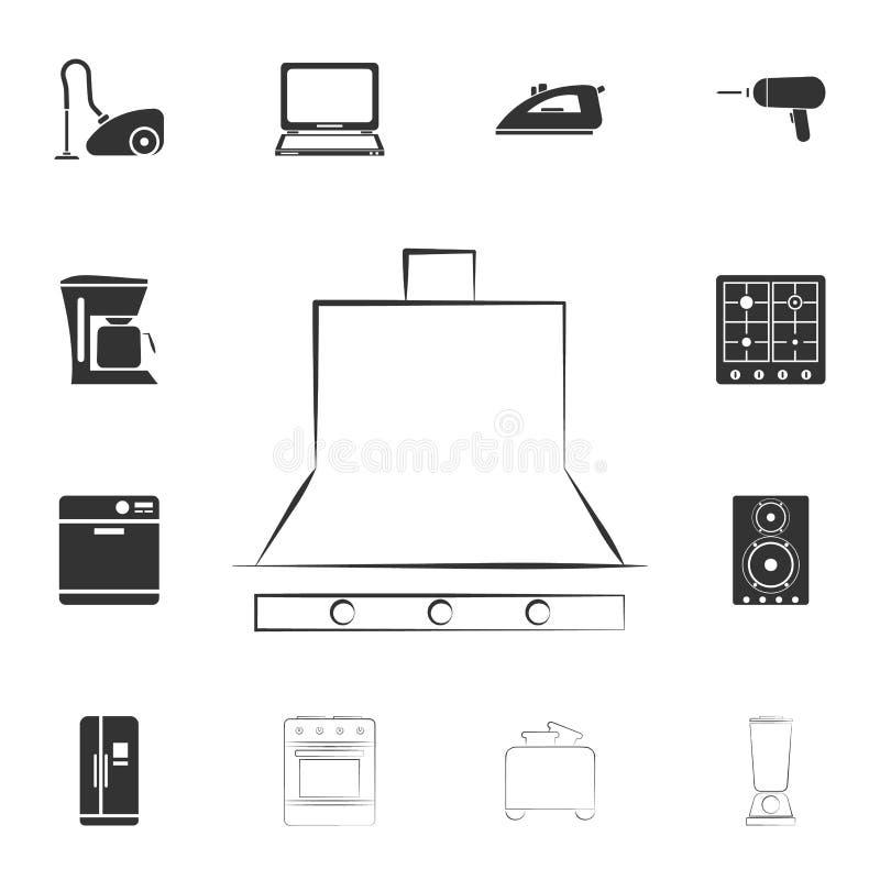 icona della cappa da cucina di logo Insieme dettagliato delle icone degli elementi della famiglia Progettazione grafica di qualit royalty illustrazione gratis