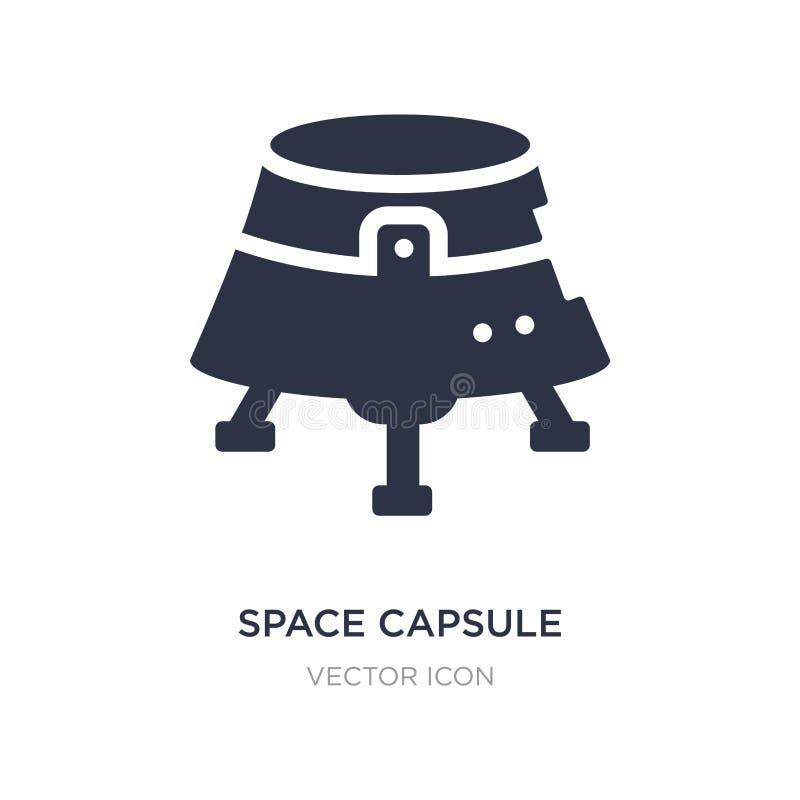 icona della capsula di spazio su fondo bianco Illustrazione semplice dell'elemento dal concetto di astronomia illustrazione di stock