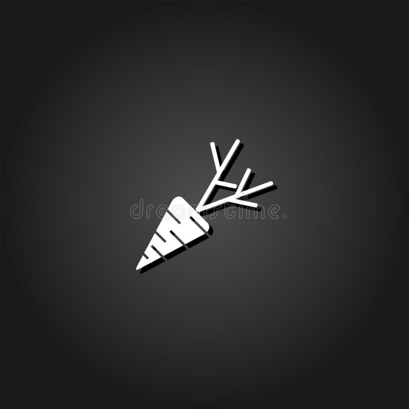 Icona della carota piana royalty illustrazione gratis