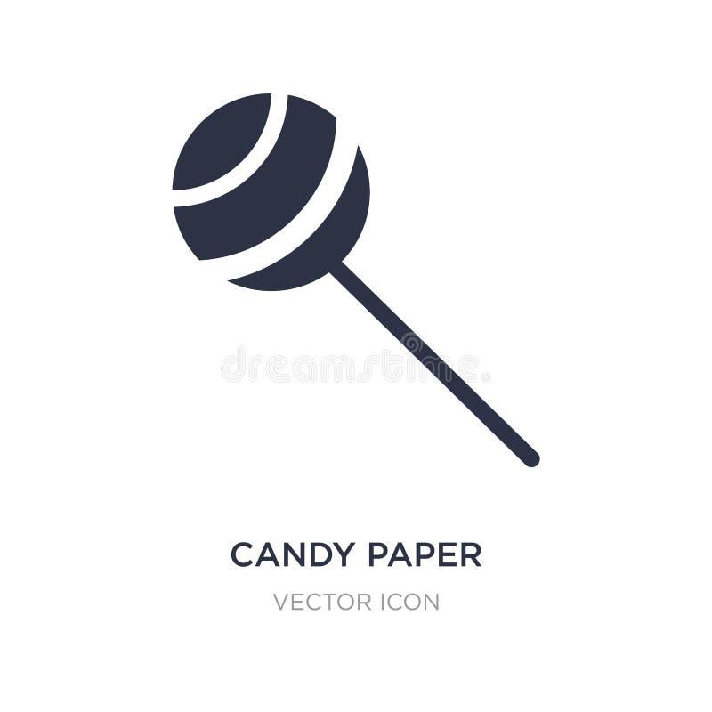 icona della carta della caramella su fondo bianco Illustrazione semplice dell'elemento dal concetto del partito illustrazione di stock