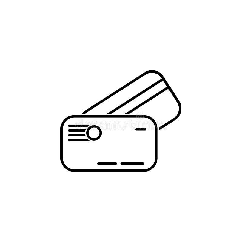 Icona della carta di credito della borsa Elemento dell'icona popolare di finanza Progettazione grafica di qualità premio Segni, i illustrazione vettoriale