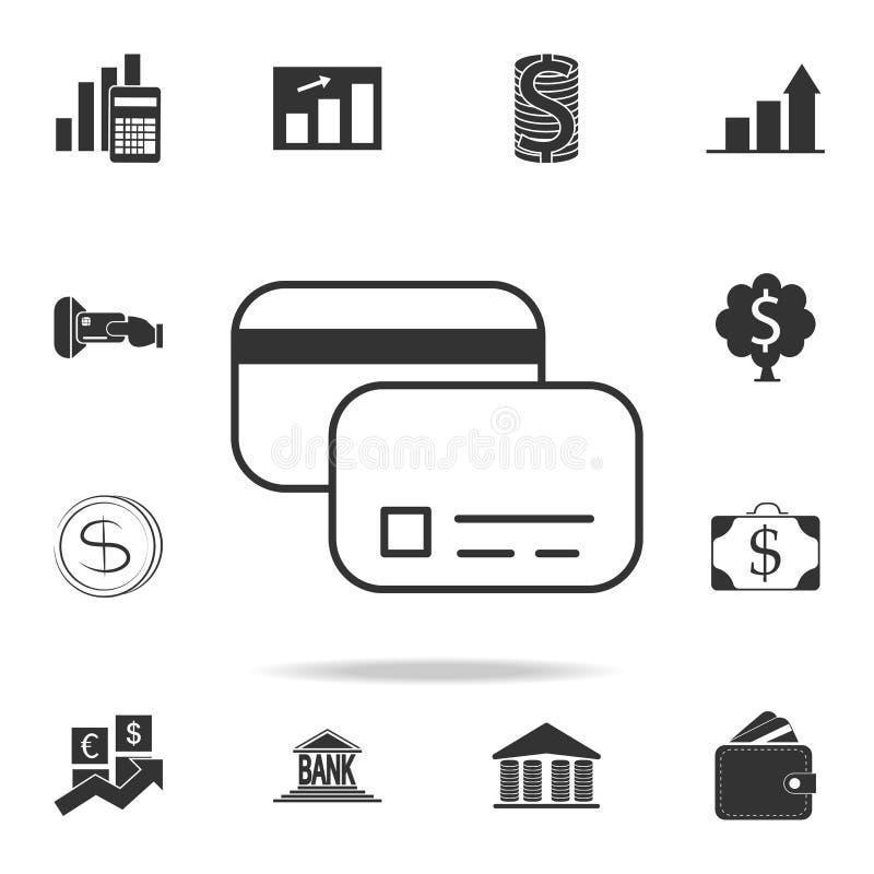 Icona della carta di credito Insieme dettagliato delle icone dell'elemento di finanza, di attività bancarie e di profitto Progett royalty illustrazione gratis