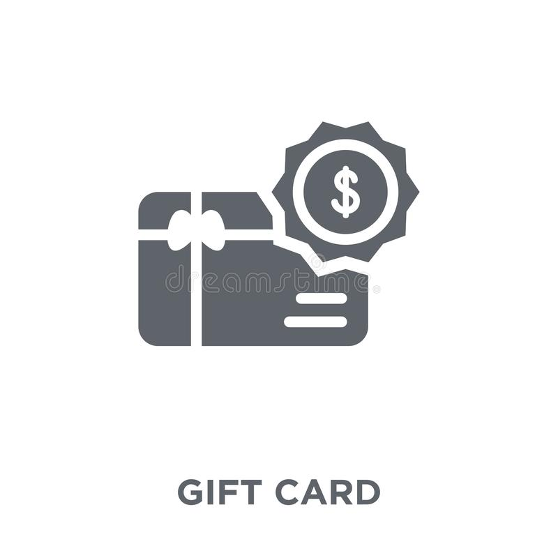 Icona della carta di regalo dalla raccolta di commercio elettronico illustrazione vettoriale
