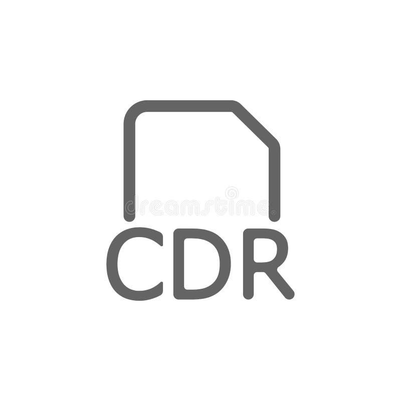 Icona della cartella di Cdr Elemento dell'icona semplice illustrazione vettoriale