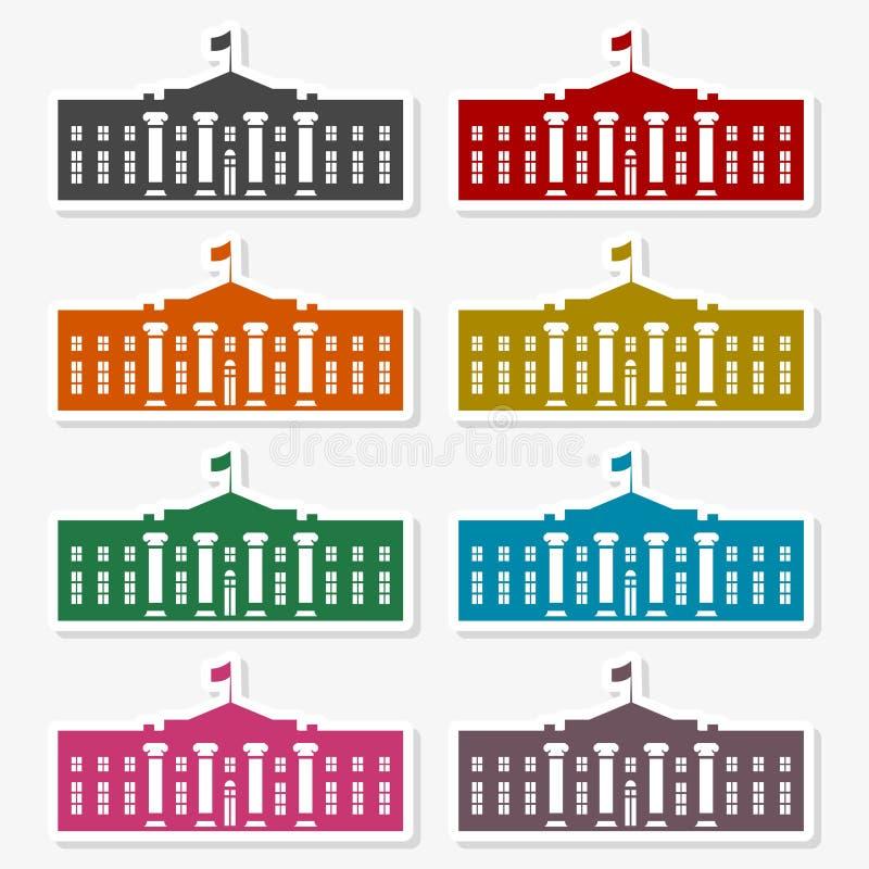 Icona della Casa Bianca di vettore - illustrazione illustrazione vettoriale