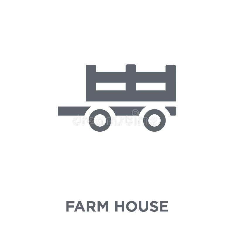 Icona della casa dell'azienda agricola dal collecti di azienda agricola e di giardinaggio di agricoltura, illustrazione di stock