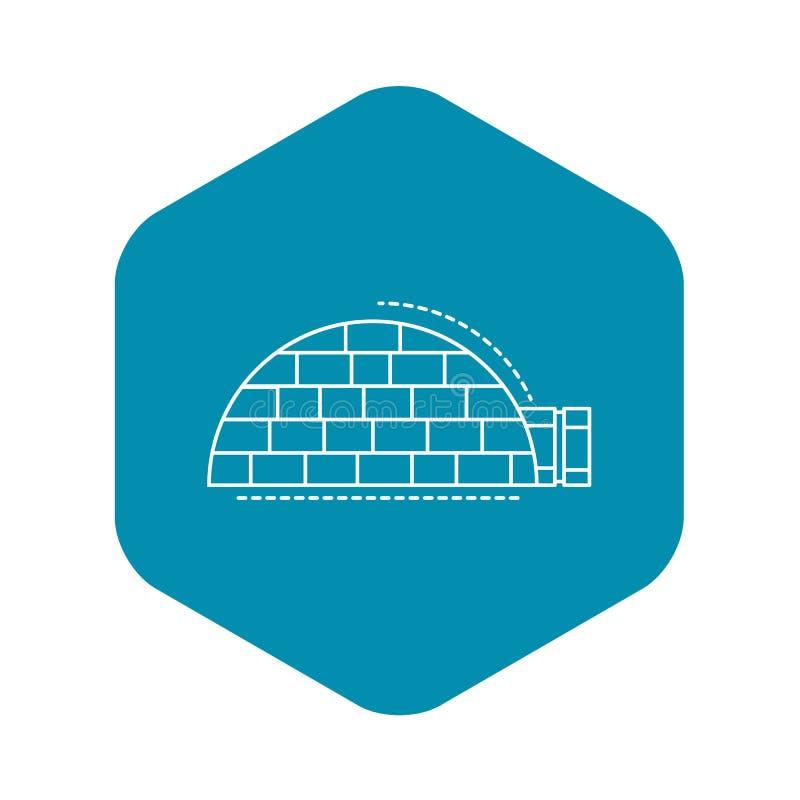 Icona della casa dell'igl?, stile del profilo royalty illustrazione gratis
