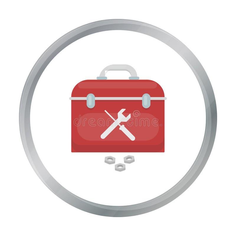 Icona della cassetta portautensili nello stile del fumetto isolata su fondo bianco Azione di simbolo dell'impianto idraulico illustrazione vettoriale