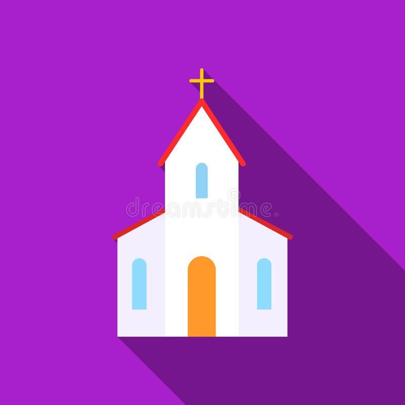 Icona della chiesa dell'illustrazione di vettore per il web ed il cellulare royalty illustrazione gratis
