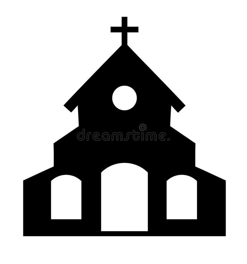 Icona della chiesa di vettore royalty illustrazione gratis