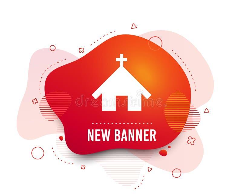 Icona della chiesa Simbolo cristiano di religione Vettore illustrazione vettoriale