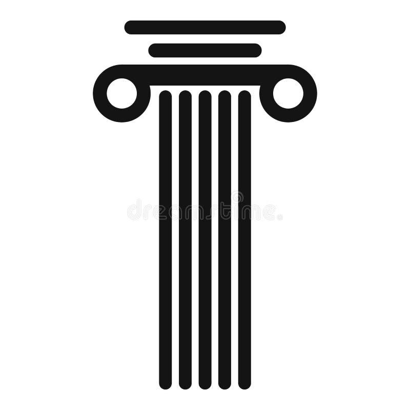 Icona della colonna quadrata, stile semplice illustrazione di stock