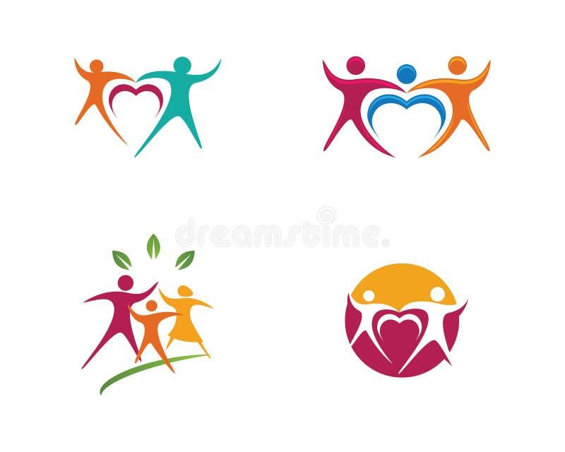 Icona della Comunità, della rete e del sociale illustrazione vettoriale