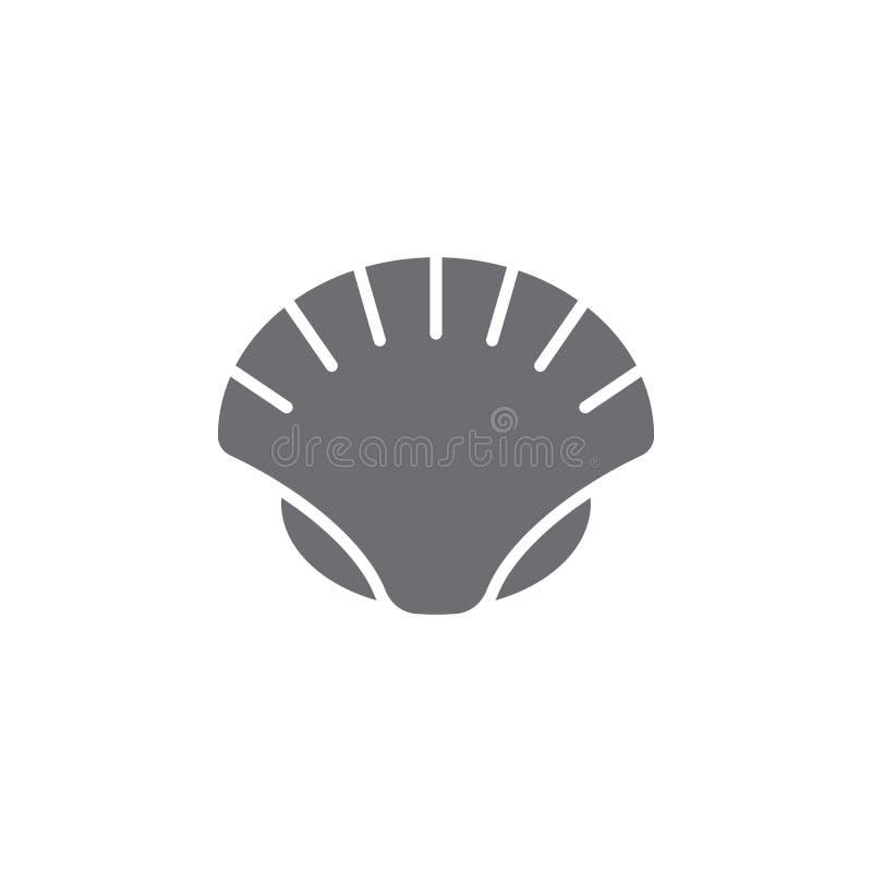 Icona della conchiglia Illustrazione semplice dell'elemento modello di progettazione di simbolo della conchiglia Può essere usato illustrazione vettoriale