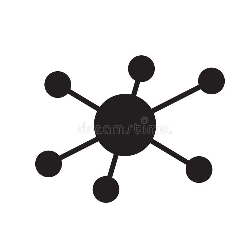 Icona della connessione di rete del hub illustrazione di stock