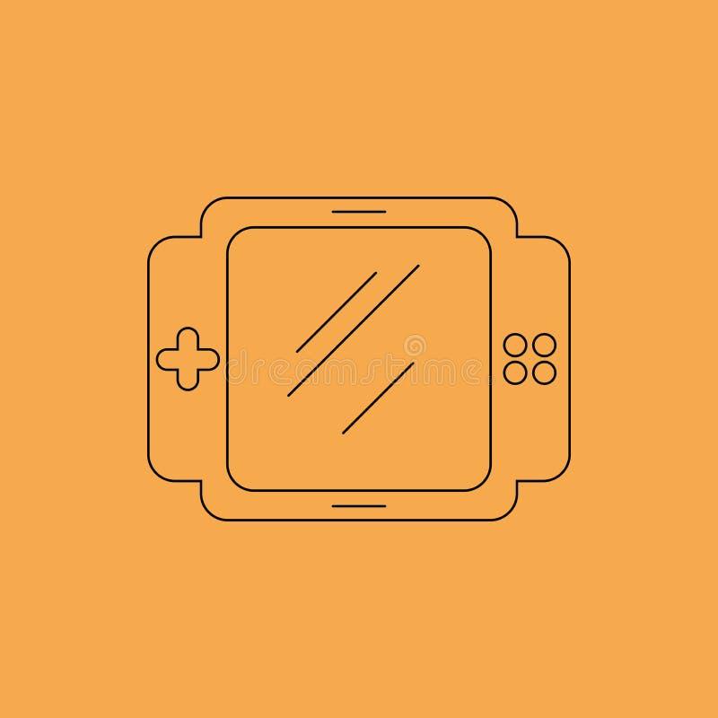 Icona della console del gioco immagini stock libere da diritti