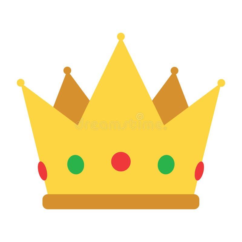 Icona della corona del partito illustrazione di stock