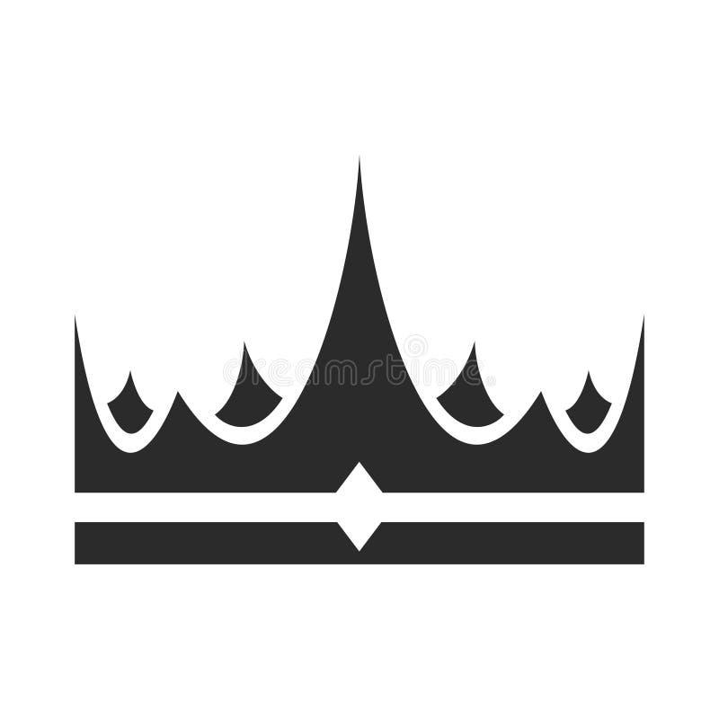 Icona della corona, premio di successo e incoronazione illustrazione vettoriale