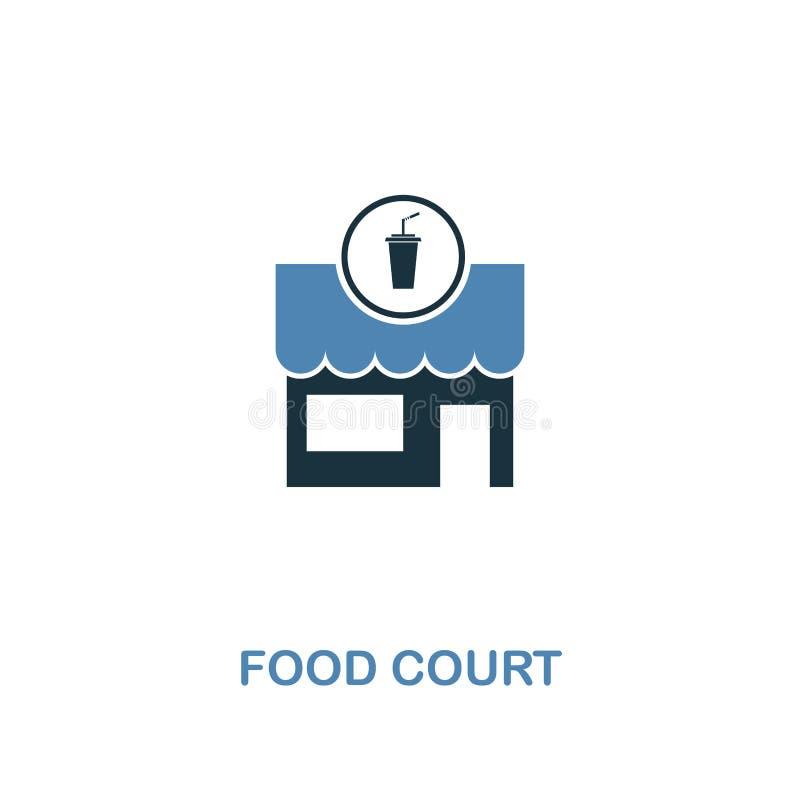 Icona della corte di alimento in due colori Progettazione creativa dalla raccolta delle icone degli elementi della città Icona co illustrazione vettoriale
