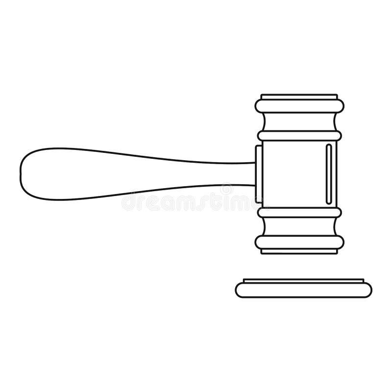 Icona della corte, stile del profilo illustrazione vettoriale
