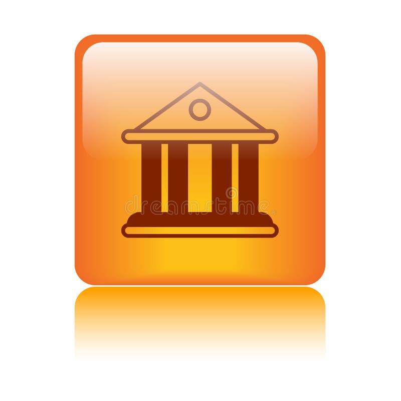 Icona della costruzione banca/della corte illustrazione di stock