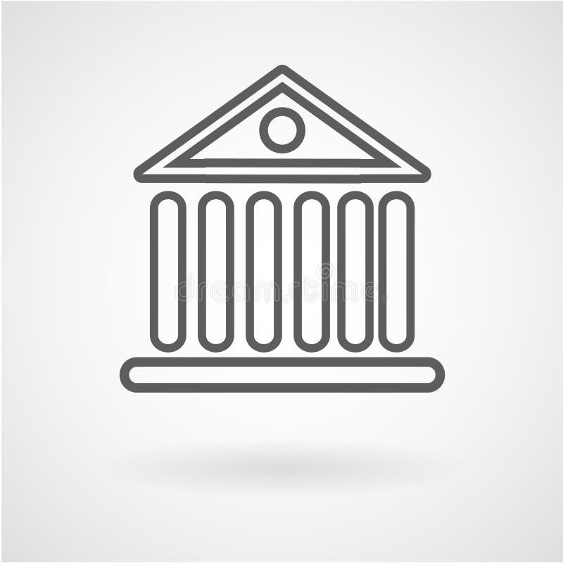 Icona della costruzione della Banca, vettore illustrazione vettoriale