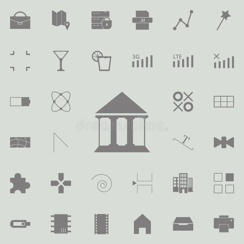 Icona della costruzione della corte insieme universale delle icone di web per il web ed il cellulare royalty illustrazione gratis