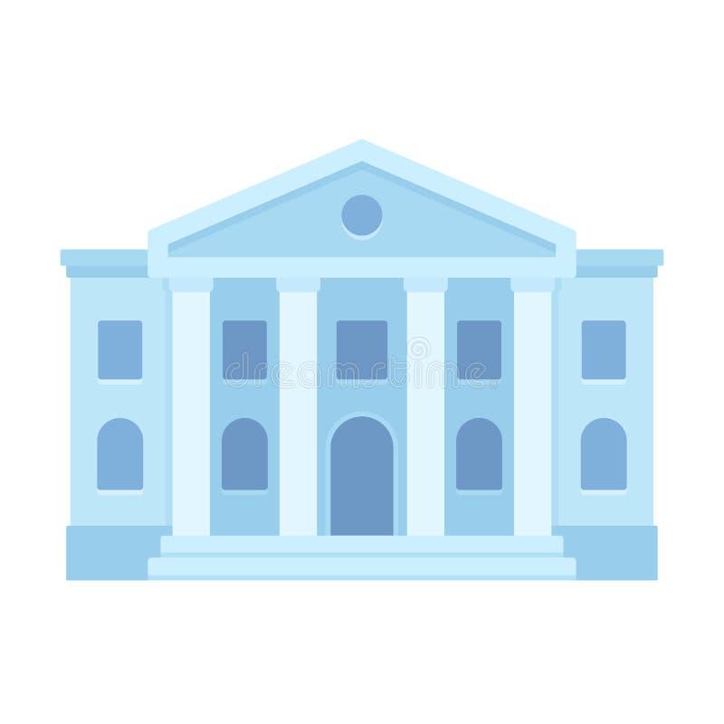 Icona della costruzione del tribunale illustrazione vettoriale