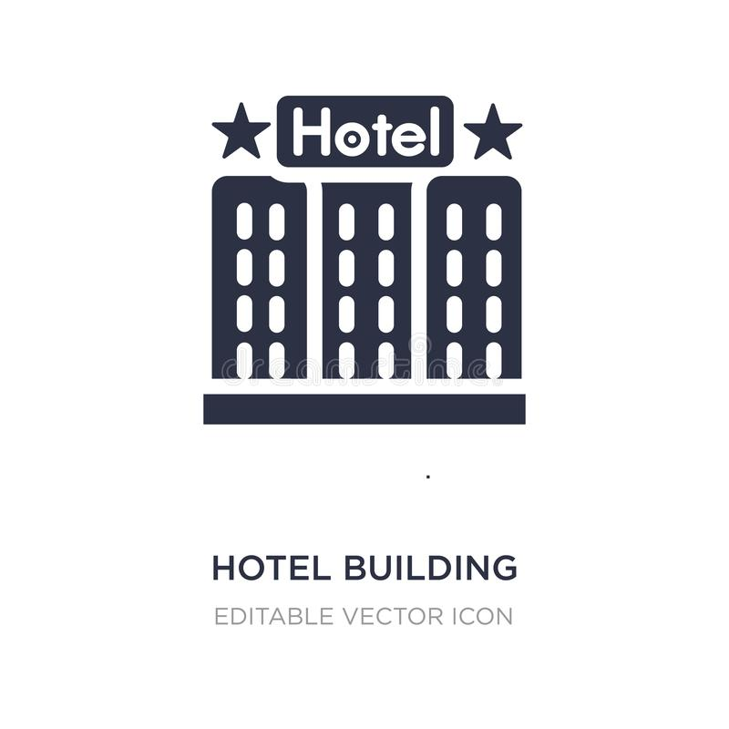 Icona della costruzione dell'hotel su fondo bianco Illustrazione semplice dell'elemento dal concetto di feste illustrazione vettoriale
