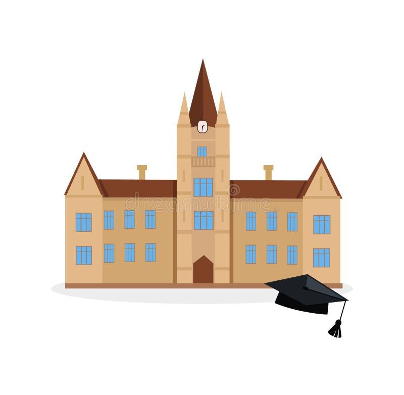 Icona della costruzione dell'università e della scuola royalty illustrazione gratis