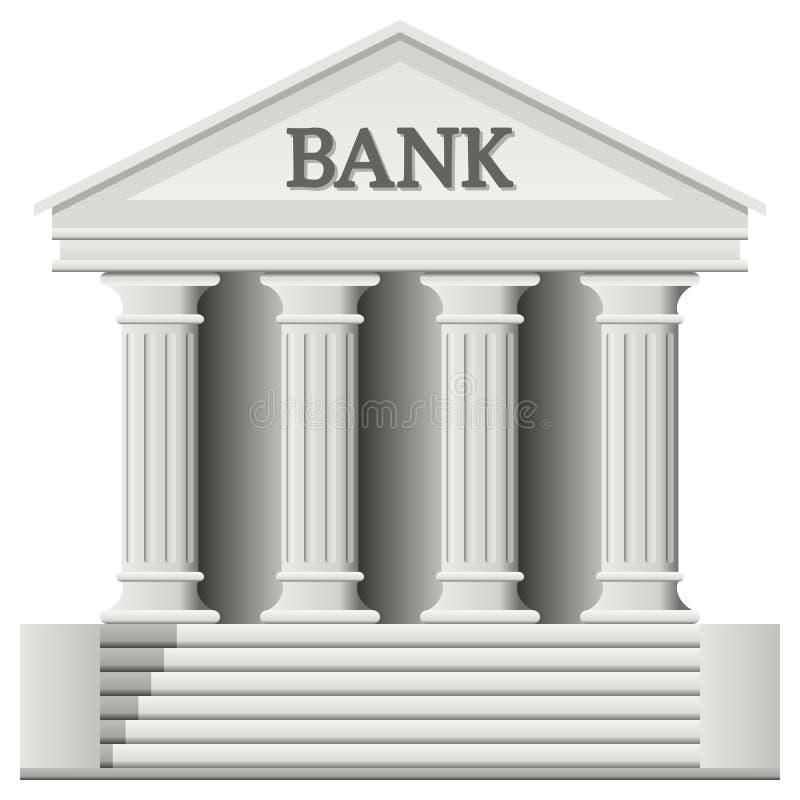 Icona della costruzione della Banca illustrazione vettoriale