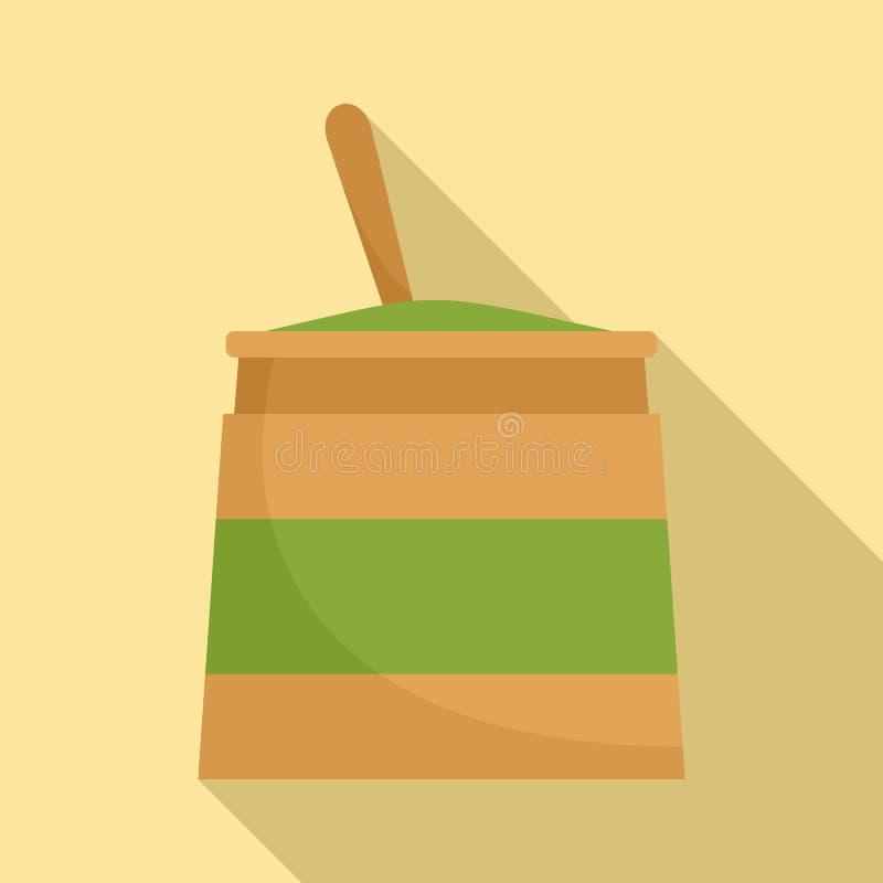 Icona della crema di Matcha, stile piano royalty illustrazione gratis