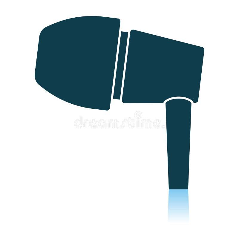 Icona della cuffia avricolare illustrazione vettoriale