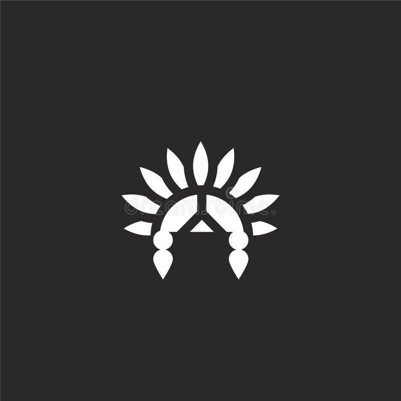 Icona della cultura Icona riempita della cultura per progettazione del sito Web ed il cellulare, sviluppo del app icona della cul royalty illustrazione gratis