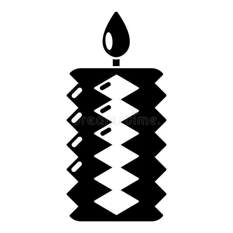 Icona della decorazione della candela, stile nero semplice royalty illustrazione gratis
